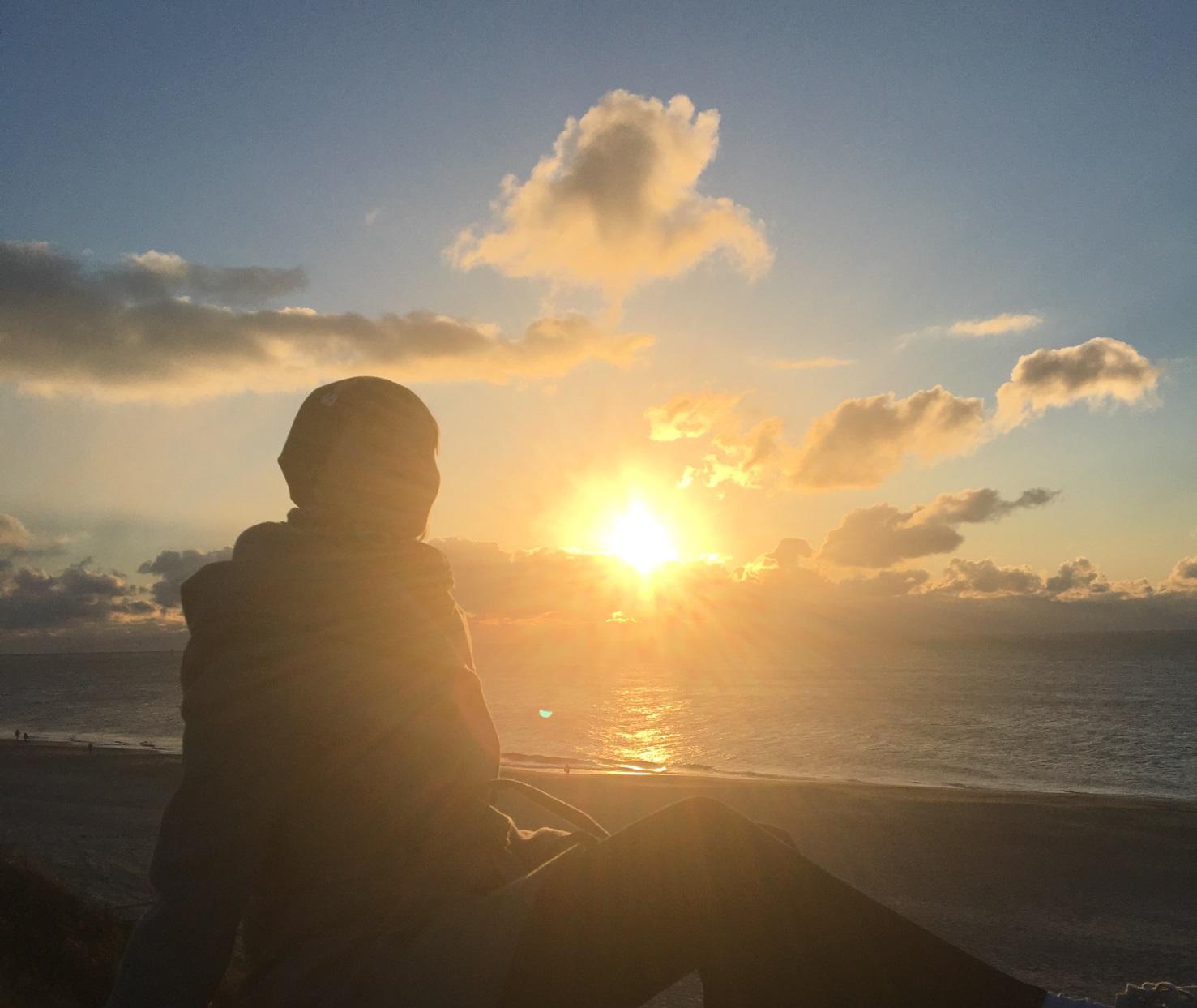 Sonnenuntergang über der Nordsee sylt westerland