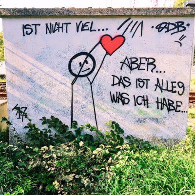 strichmaennchen streetart Nordfriesland fundsache wegesrand