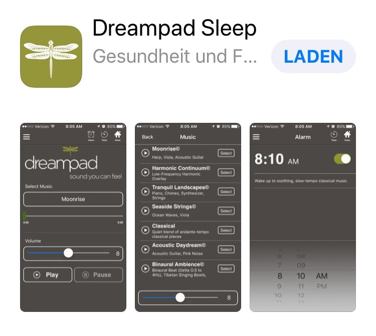 dreampadsleep app schlafstoerungen