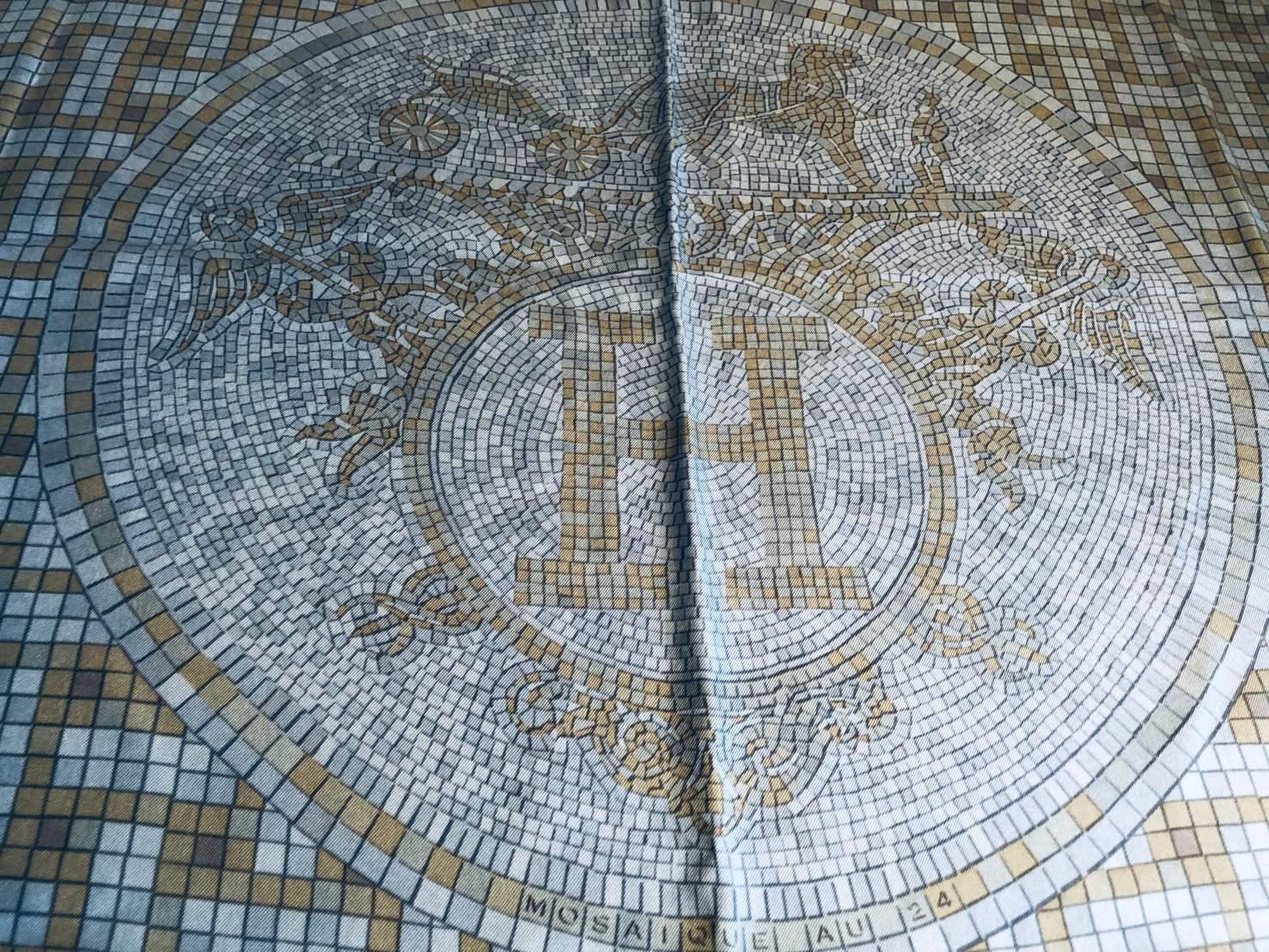 hermes seidentuch mosaique au 24 mosaik motiv