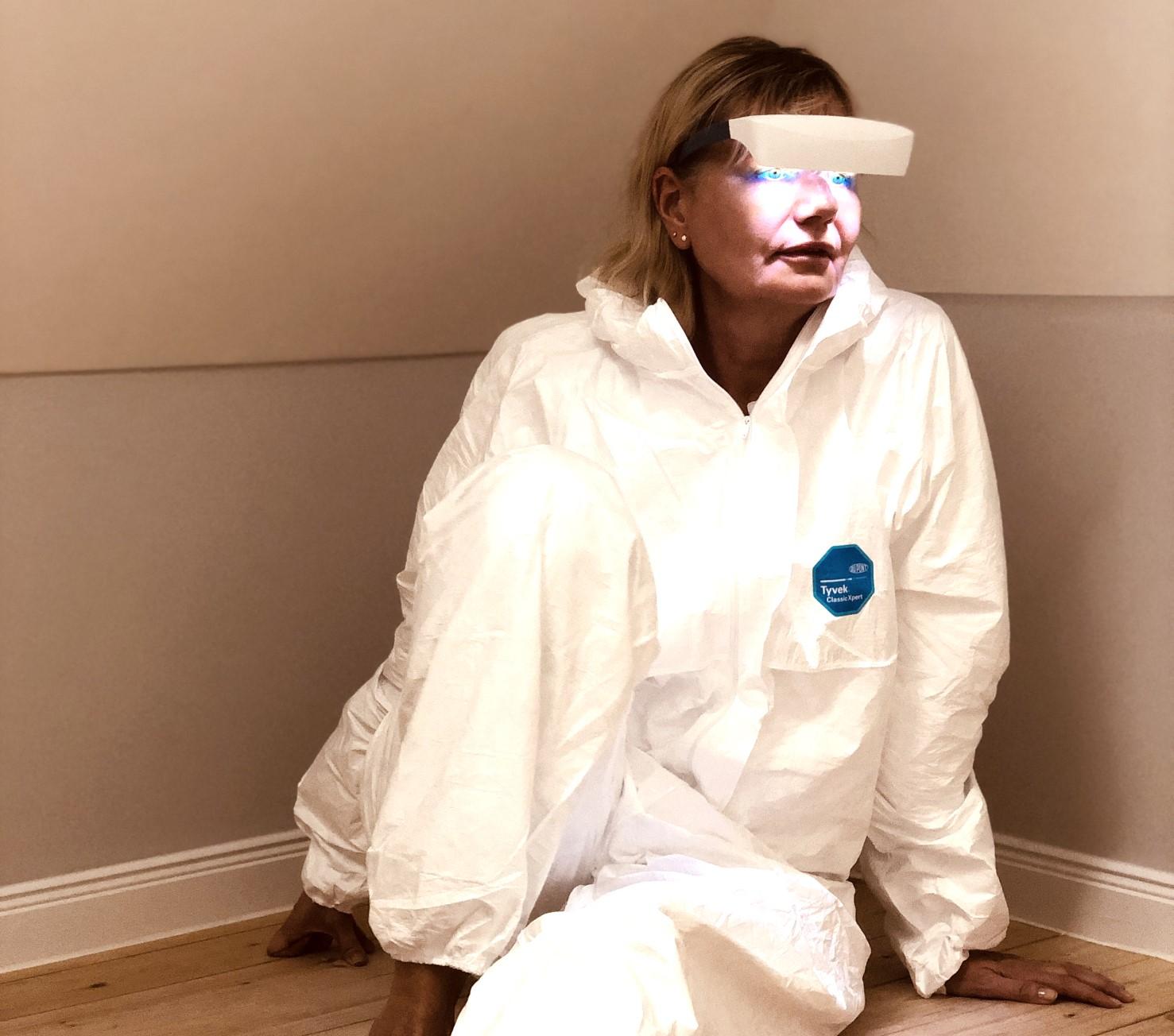 luminette, myluminette, lichttherapie, brille, lichttherapiebrille, tyvek, anzug