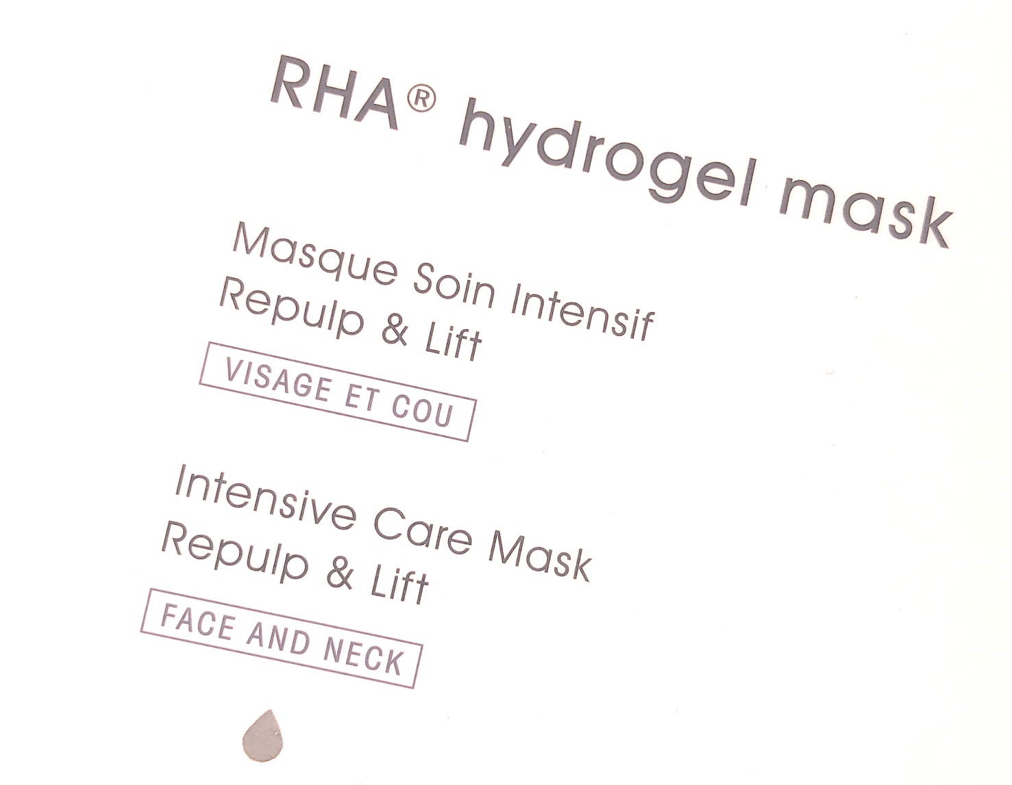 TEOXANE HYDROGEL MASK