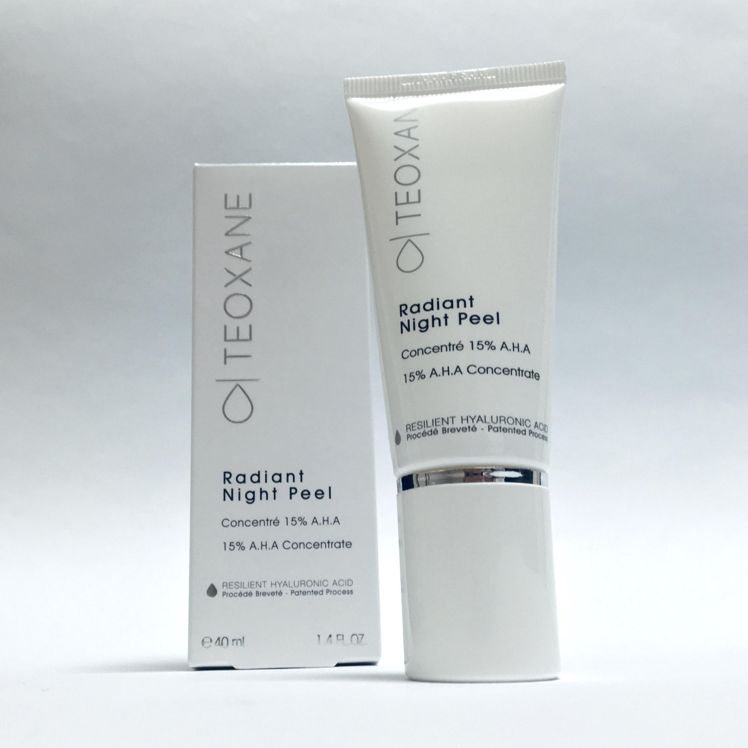teoxane anzeige cosmeceuticals radiant night peel