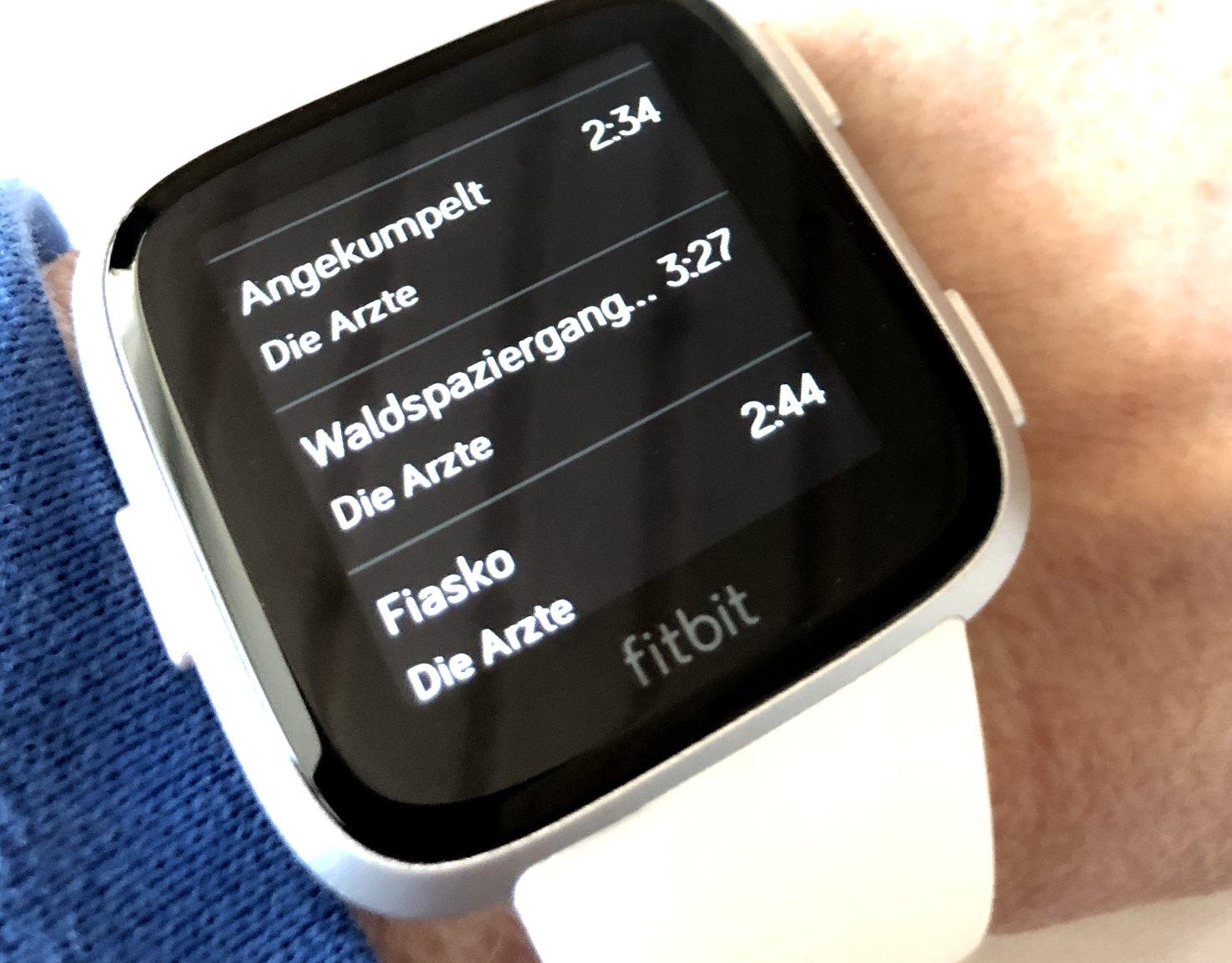 Fitbit Versa musik mit Deezer