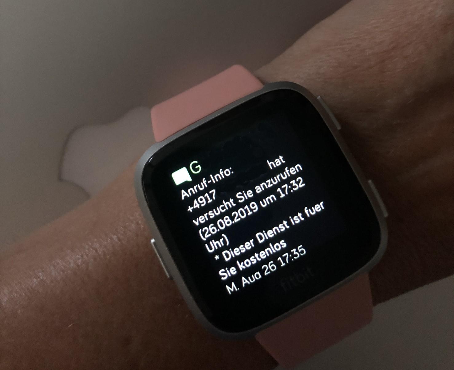 Fitbit Versa Nachrichten