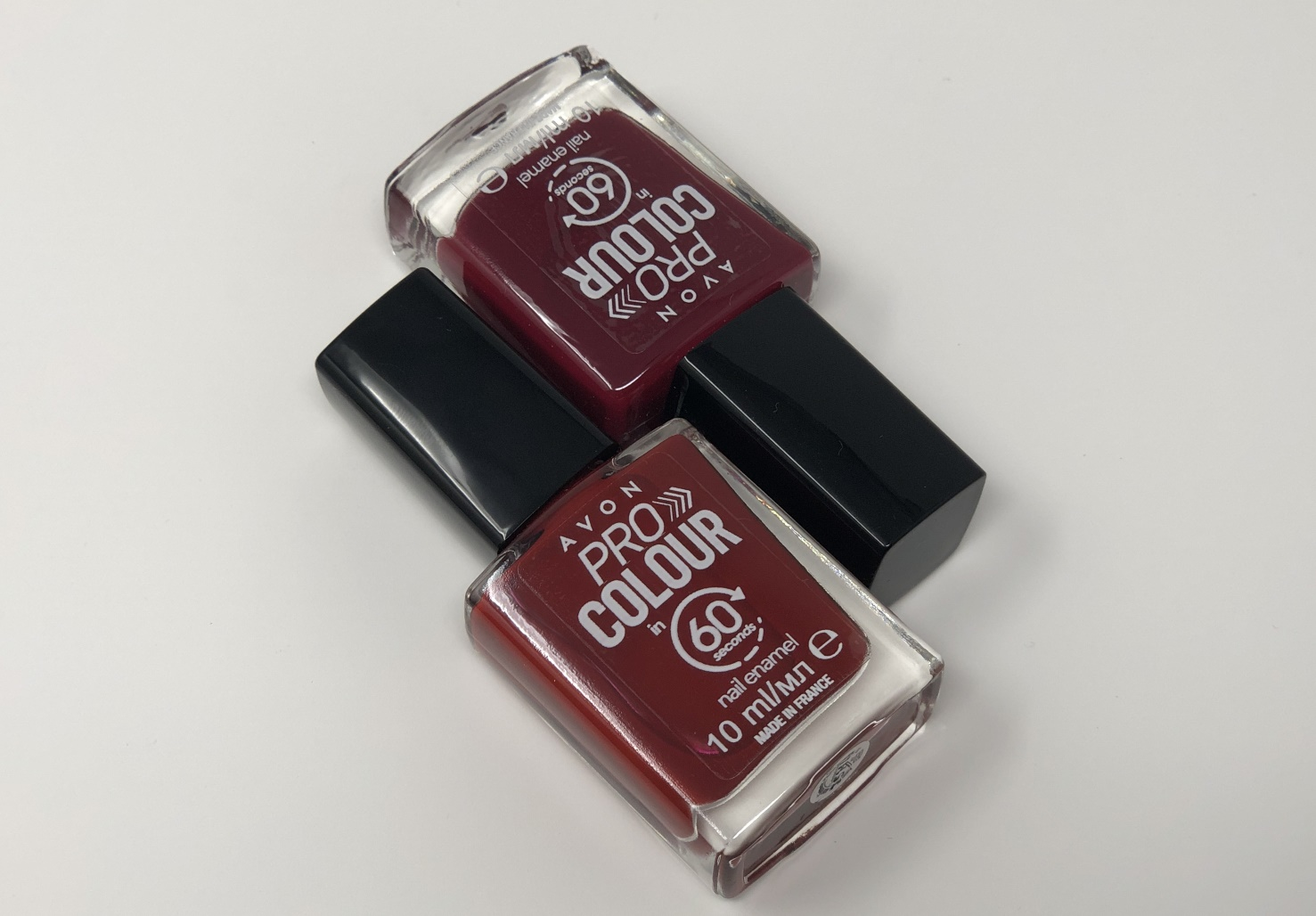 roter nagellack avon pro colours 60 seconds