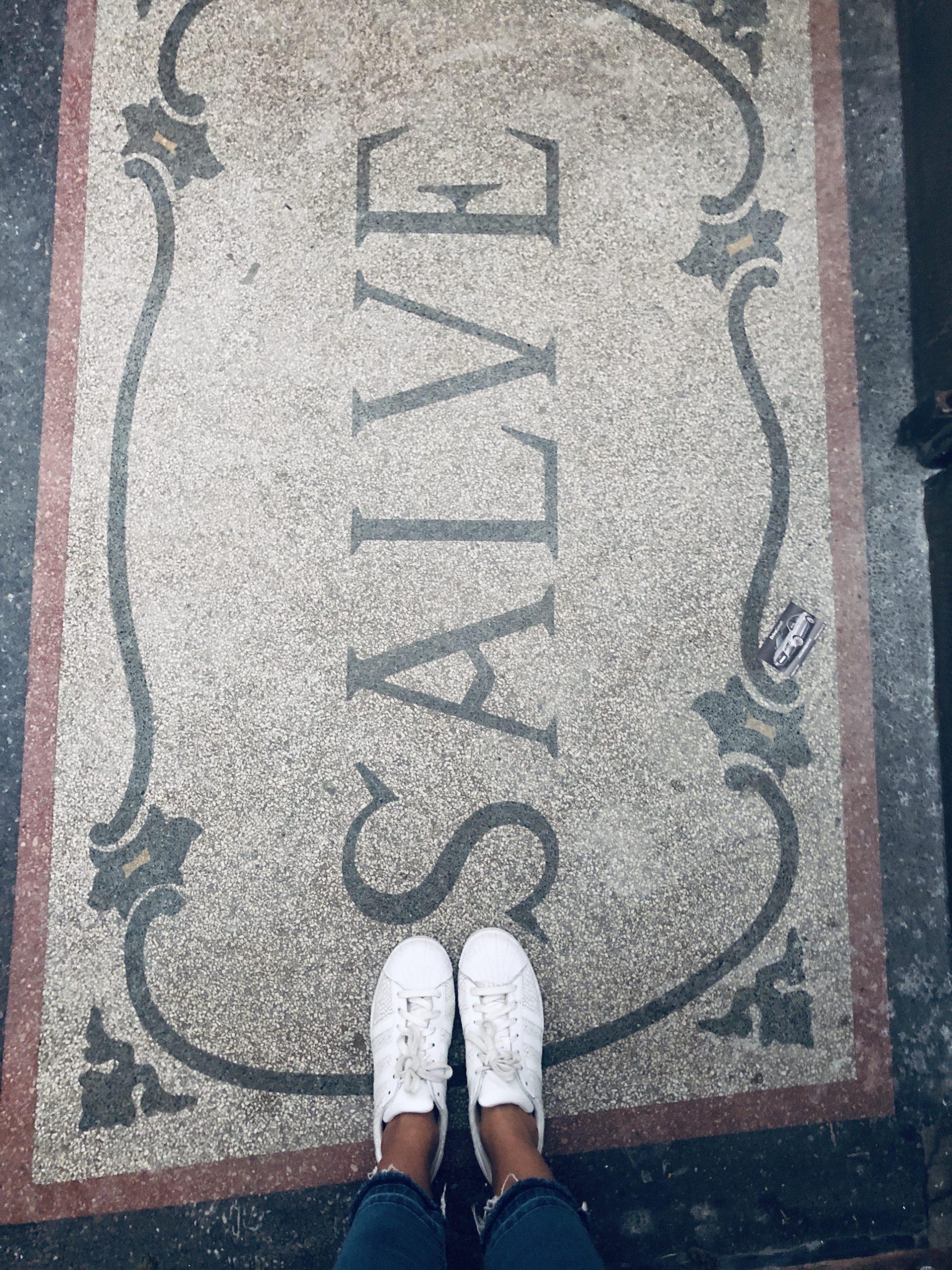 salve Grus lateinisch Mosaik sei gesund
