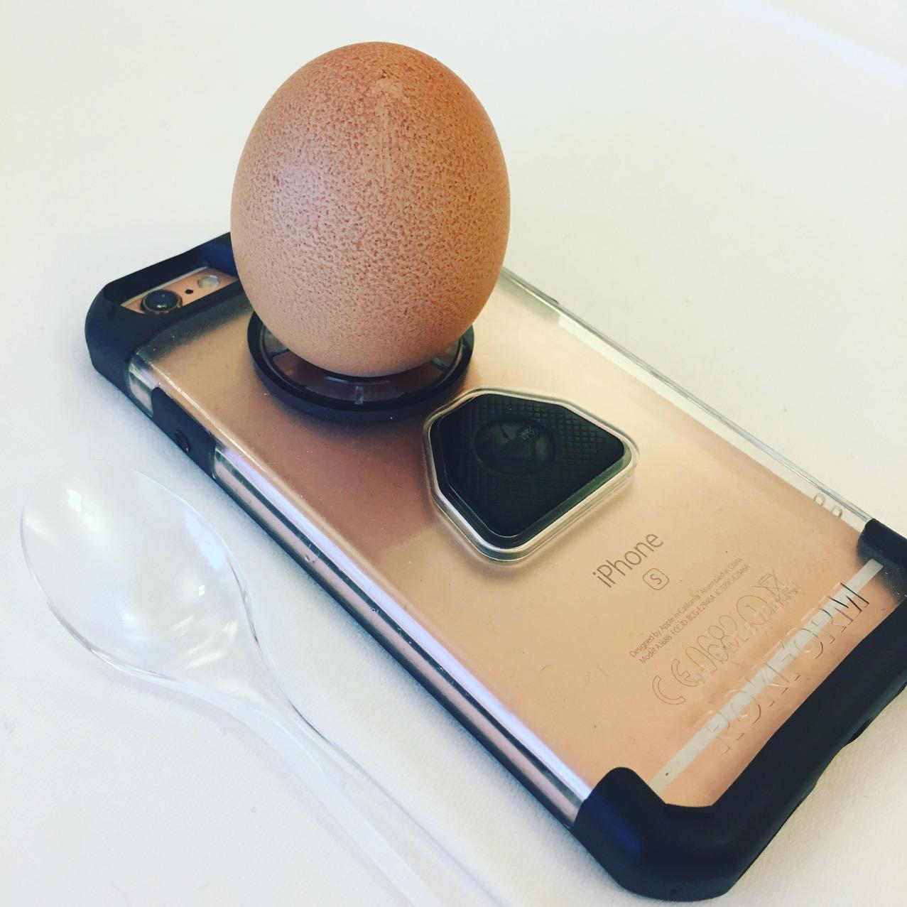 apple iphone mit rokform und ei