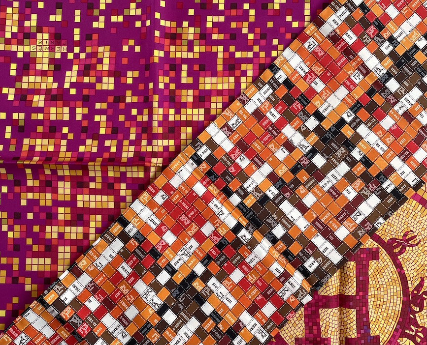 hermes seidentuecher mosaique 24 bolduc au carre
