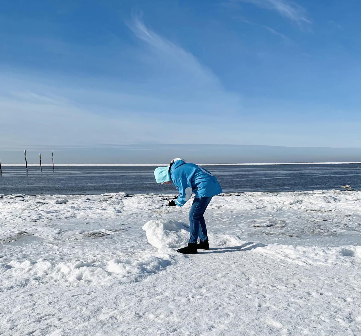 Sankt Peter-Ording Nordsee Nordfriesland Winter Februar 2021