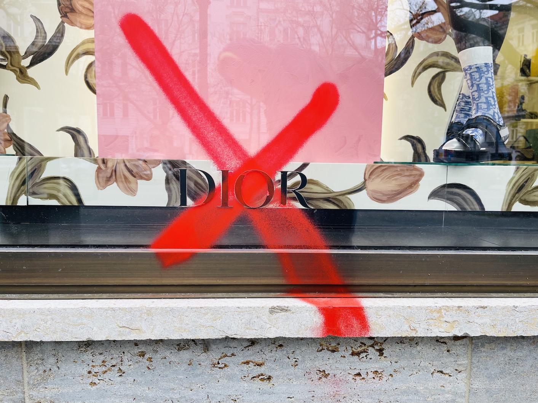 Berlin kurfüstendamm Schaufenster der nobelboutiquen Dior