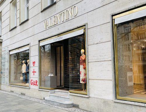 Berlin Kurfürstendamm mit Herz und Gier bei Dior