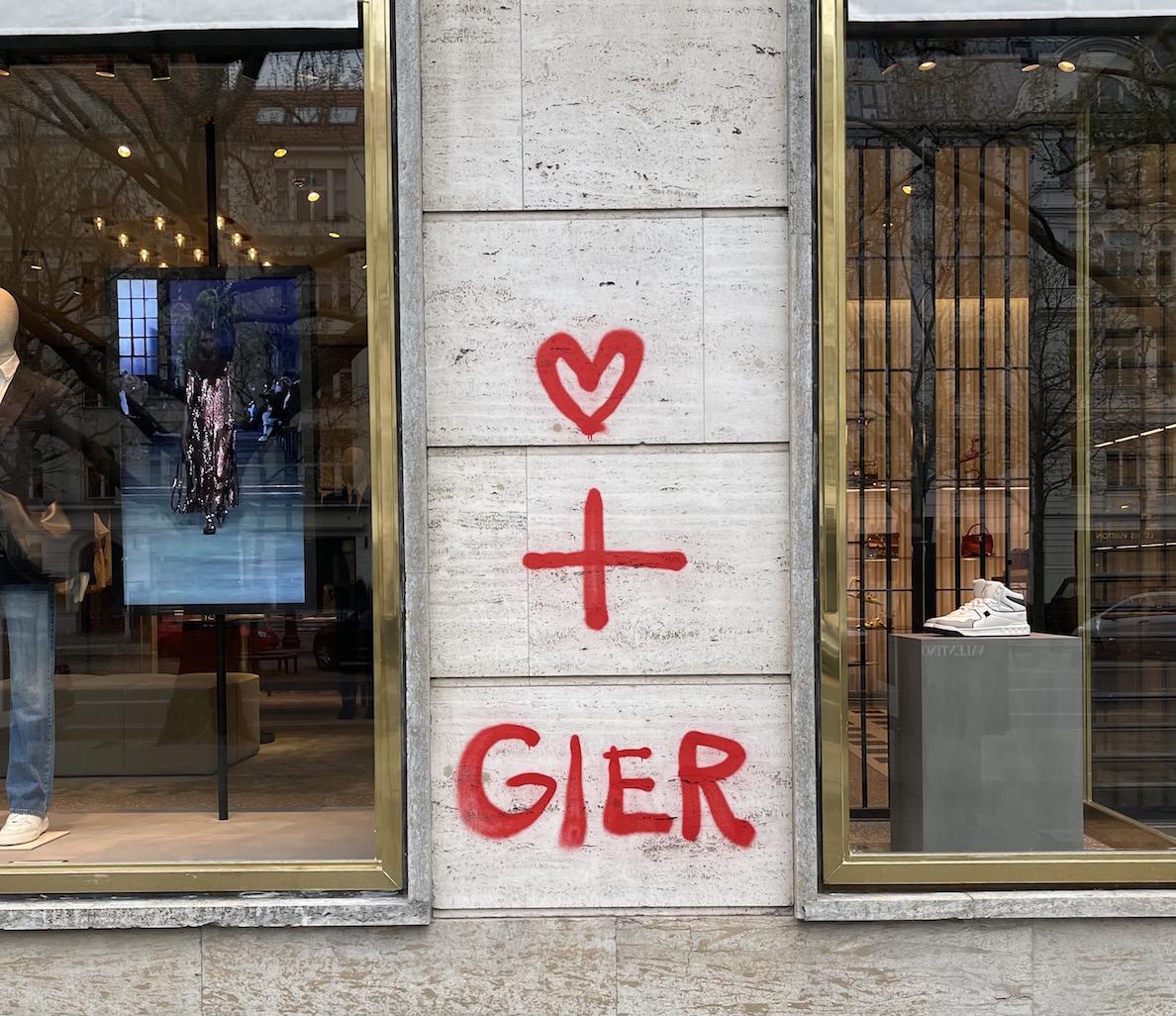 Berlin kurfüstendamm Schaufenster der nobelboutiquen Valentino